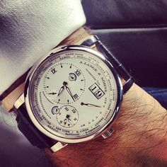 A. Lange & Sohne Lange 1 Time Zone Watch The Lange 1 Time Zone displays the local time at any given place in the world while faithfully ...