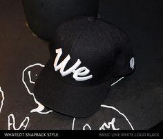 WHITE LOGO BLACK 과격하거나 자유롭거나 혹은 중성적인 매니시한 분위기를 녹여 낼 수 있는 아이템.  #왓이짓 #스냅백 #brand #We #whatezit #Brooklyn #newyork #StreetFashion #CAP #Trend #style #fashion