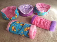 What do you thinK? Homemade cuddle cups and tunnels