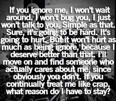 Pretty much !! I don't have to wait around for people who all of a sudden find someone new and ignore you completely