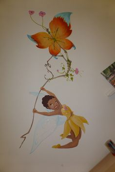 faries iridessa vlieger vlinder muurschilderingen