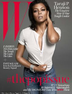 All hail the TV queen: Taraji P. Henson steamed up W Magazine in a glamorous, but extra sexy, fashion spread for its Pop Issue released Tuesday