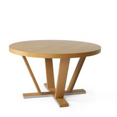 "Aura Table, 830/TC1, Estensible Table, Wood Species : Oak, (H)29 1/4"" - (D)51 1/4"" - (W)51 1/4"" + 19 3/4"""
