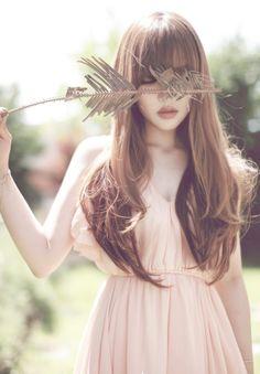 long hair long bangs