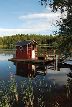 Combination of a lake and a sauna = priceless!  Aches and pains will evaporate with the steam.