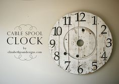 """cable spool """"clock"""""""