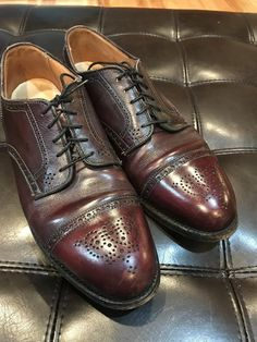 ebafe9f83a4 Alden Model 958 Medallion Captoe Blucher 9.5D Price   49.99 Ends on   Alden  Cordovan