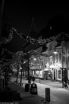 - To shorten winter, borrow some money due in spring - A cold winter night downtown Hamar, Norway. Norway Viking, Walking Street, Winter Night, Finland, Travel Destinations, Black And White, City, Vikings, Scotland