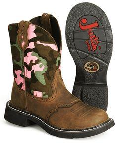 Justin camo Gypsy boots