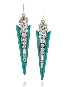 Shop Six Pairs of Super Pretty Statement Earrings From MyLucky : Lucky Magazine- Lulu Frost Crystal and resin spike earrings