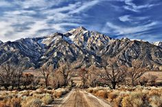 The rugged beauty of Mount Williamson looms over Manzanar National Historic Site in California.