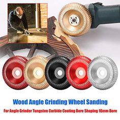 Winkelschleifer Disc Holz Wolframkarbid Schleifscheibe Schnitzen Schleifscheibe und 5 St/ück Schleifen Schleifscheibe F/ächerscheiben zum Schleifen Schnitzen Gestaltung Polieren