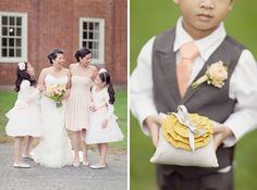 New England wedding. Look at that sweet Ringbearer pillow! | Simply Bloom Photography
