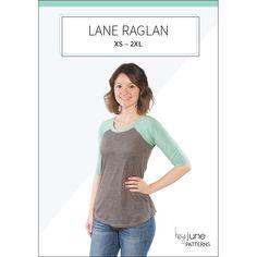 Lane Raglan pdf pattern by Hey June Handmade