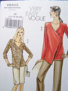 Very Easy Vogue V8403 Sewing Pattern Women's by WitsEndDesign