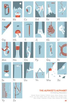 A little climbing alphabet! Nice!
