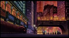 Neo Tokyo from Akira. what makes Neo Tokyo so special is the movement around the city. everything seems close but when you take a step back you see it's scale. this movement is enhanced by the motorcycle chases and shots . Miyazaki, Ghibli, Akira Anime, Wallpaper Collection, Katsuhiro Otomo, Neo Tokyo, Art Vintage, Dark City, Film D'animation