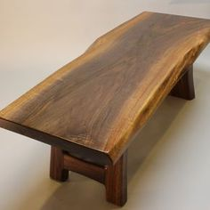 Black Walnut Live Edge Coffee Table by Jacek Ryszka
