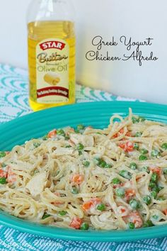 Greek Yogurt Chicken Alfredo Pasta {A Lightened Up Weeknight Dinner Recipe}