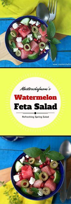 MASTERCHEFMOM: Watermelon Feta Salad | How to make Watermelon Feta Salad at Home | Summer Special Recipe | Gluten Free and Vegan Recipe