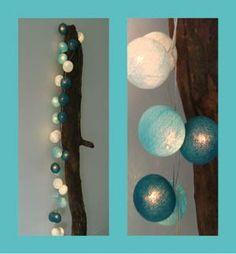 Aqua Cotton Ball Lichtslinger
