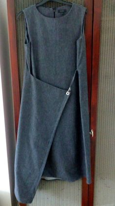 Quirky COS heavy cotton grey/denim look asymmetric dress pinafore apron 10 12 | Clothes, Shoes & Accessories, Women's Clothing, Dresses | eBay!