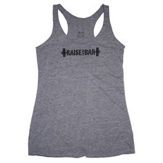 Raise the Bar - Gray - Women's Triblend Racerback Tank front