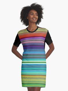 « Rayures multicolores - stripes rainbow - rayures arc-en-ciel » par LEAROCHE T Shirt, Stripes, People, Gowns, Supreme T Shirt, Tee Shirt, People Illustration, Tee, Folk