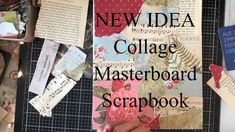 Lets Make a COLLAGE Masterboard Scrapbook - For Lost Mojo or TV Craft Hi - I am pretty excited to bring you this Collage Masterboard Scrapbook. Journal Pages, Junk Journal, Journal Art, Bullet Journal, Dee Dee, Scrapbook Journal, Mixed Media Collage, Art Journals, Getting Organized