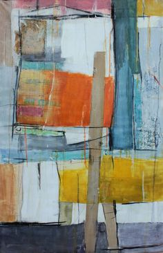 """Saatchi Art Artist Constantinos Kalfountzos; Painting, """"personal diary - installation with yellow and orange"""" #art #abstractart"""