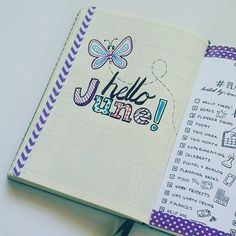 I love the feeling of new beginnings! #planwithmechallenge Day 1: hello there! See what other pages I added this month at the link in my profile. http://sublimereflection.com/june-bullet-journal-setup/