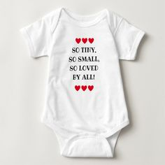 """New baby gift, one-piece """"Loved by all"""", Baby Bodysuit 