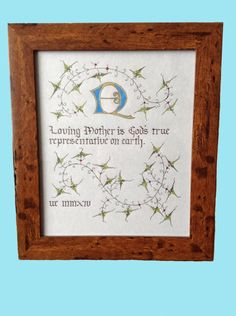 Hand Made Mother Day Plaque by WEatonMedievalArts on Etsy Craft Items, Your Design, Invitations, Day, Frame, Board, Handmade Gifts, Artwork, Crafts