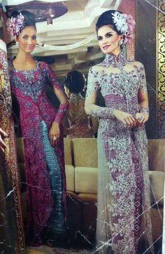 Silver vs Purple & blue vs pink #kebaya #indonesia
