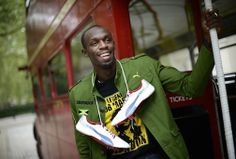 Sprinter Usain Bolt in London. Just so cool.