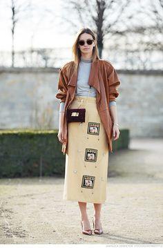 Maxi Beige Skirt