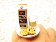 Kawaii Food Galletas anillo chocolate con leche por SouZouCreations en Etsy