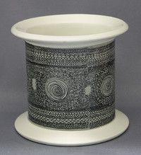 Arabia kukkamaljakko, Moreeni, Esteri Tomula Uppsala, Porcelain Ceramics, Metallica, Finland, Scandinavian, Glass Art, Backyard, Vase, Aladdin