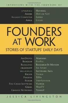 Founders at Work: Stories of Startups' Early Days by Jessica Livingston,http://www.amazon.com/dp/1430210788/ref=cm_sw_r_pi_dp_DtTcsb1VDM9ERCHD