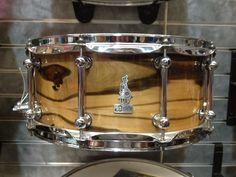 BRADY 14 x 6.5 Jarrah Ply / Blackheart gloss snare drum at Derringer's Music in Adelaide, Australia.