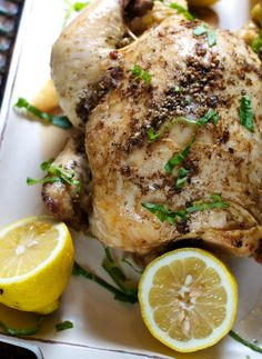 Slow Cooker Roasted Chicken by ReganJonesRD, healthyaperture #Chicken #Slow_Cooker
