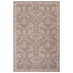 Jaipur Poeme Corsica Silver Gray Hand Tufted Wool Rug @LaylaGrayce