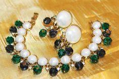Vintage Designer TRIFARI Dazzling Emerald by MyJewelsBoutique