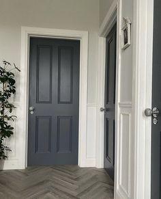 The door is painted with Genesis in this hallway. #hallwayideas #hallway