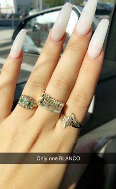 Her jewelry and Nails // 🔆🔅🔆 on We Heart It Gorgeous Nails, Love Nails, How To Do Nails, Pretty Nails, Cute Acrylic Nails, Acrylic Nail Designs, Nail Art Designs, Nail Jewelry, Nail Inspo