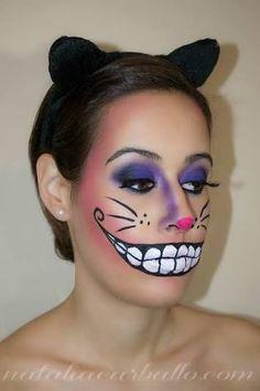Cat Makeup For Kids, Cat Halloween Makeup, Disney Halloween, Halloween Fun, Cheshire Cat Face Paint, Cheshire Cat Costume Kids, Cheshire Cat Makeup, Cat Costumes, Halloween Costumes