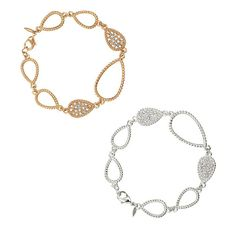 Enchanting Teardrop Bracelet | AVON Bracelet with openwork and closed teardrop castings that are rhinestone encrusted. Your choice of goldtone or silvertone.
