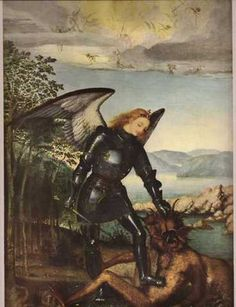 The Archangel Michael by Brueghel. St Michael, Michael Angel, Archangel Michael, Angel Guide, Angel Warrior, Angels Among Us, Old Paintings, Saint George, Medieval Art