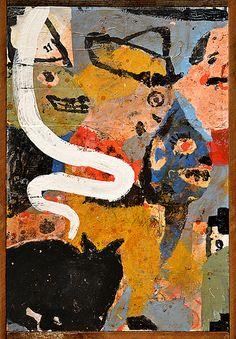 """Lyle Carbajal """"du Cirque"""" - 25"""" x 37"""" 2013"""