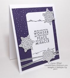 Cattail Designs: Stampin Up, Mojo Monday 413, Silver snowflakes